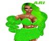 lime green boa