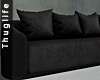 Curved Black Couch