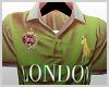 Green Polo shirt.