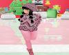 kids black pink winter