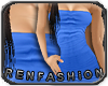 $R OceanBlue Tube Dress