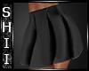 [Shii]Black PVC Skirt