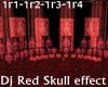 Red Dj Skull Effect