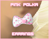 Pink Polka Earrings