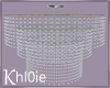 K  glitz chandelier