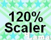 120 % , kid head scaler