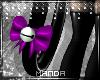 .M. PVC Kitten Tail Purp