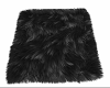 black fur rug