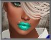Green Lip Piercing