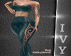 IV.Glitter BodySuit-Teal