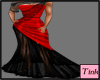 Red black gown