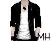 [MH] PVC Jacket Bl/White
