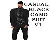 CASUAL BLK  CAMO SUIT V1