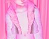 S! Kawaii Fur Coat Pinku