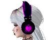 Purple heart Headphones