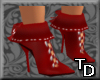 *T Short Boots Red