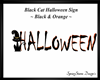 Blk Cat Halloween Org/Bl