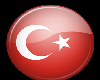 Turkey Button Sticker