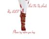 Red Tie Up Heels.