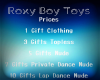 Roxy Boy Toys Sign
