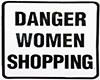 women shopping sign