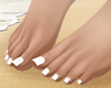 S. Bare Feet White Pedi