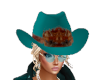 Cowboy Hat Teal Dee