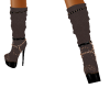 Brown leather calf boots