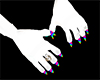 Rainbow Furry Paws Hands
