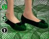 Princess Slippers Green