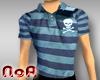 StripedPoloW.Skull/Blue