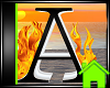 ! Animated Fire Letter A