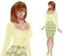 TF* Yellow Top & Skirt