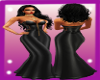 PC] Gown Long Sexy BLACK