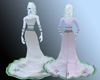 Water/Ice Eva Gown