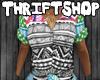 †$: Tribal Grn Blouse