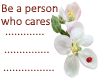 Be the person who cares.
