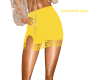 yellow skirt with lace