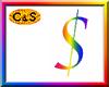 C&S Rainbow Dollar Sign