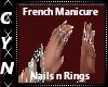 French Manicuren n Rings