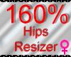 *M* Hips Resizer 160%