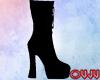 Dark Black Boots F