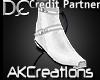 (AK)White cowboy boots
