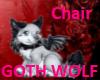 Goth Wolf Chair