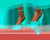 evening green heel shoes
