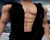 Open Black Hoodie Vest