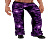 PURPLE PVC SKULL PANTS