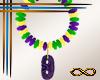 [CFD]Mardi Gras Earrings