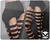 m> Stripe Leggings Black