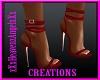 Red Wrap Heels